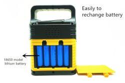 شاحن محمول ضوء فلاش التحكم الشمسي 10 واط اللوحة الشمسية الطوارئ نظام الإضاءة بنظام الإضاءة الشمسية