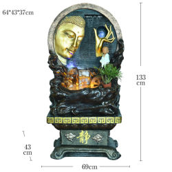Factory Sale New Style Resin Crafts of Buddha Statue and Stromend water Fontein Creatief Interieur woonkamer Decoratie Home meubilair Opening Gift