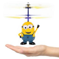輝やきの目が付いているヘリコプターのおもちゃ