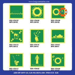 海洋のPhotoluminescent Imoの記号の安全印をカスタマイズしなさい
