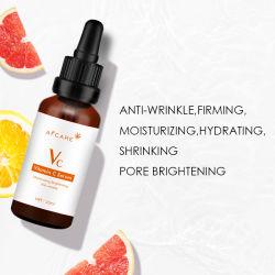 Face Anti-Wrinkle nível sérico de 20% de vitamina C soro com ácido hialurônico e vitamina E - Face Orgânicos Care Embranquecimento 30ml anti envelhecimento ODM OEM pulverizar o soro de rosto