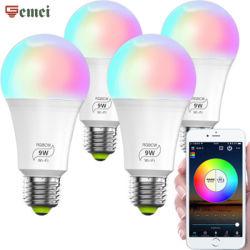 Vendita diretta in fabbrica Smart lampadina LED Tuya prodotto A60 9W Base RGB E27 lampada a LED a risparmio energetico/lampada da pannello a LED per interni ovale/ Per illuminazione bagno con balcone