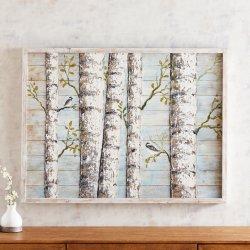 Лучший продавец березы панель дерева, планка Дерево, масло Paitnings. Размером 40х30 дюйма