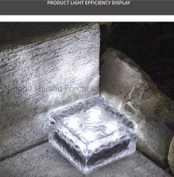4pcs F5 gazon solaire Voyant DEL de carrelage de sol en brique de la forme de cube de glace la nuit de la lampe de simulation de l'énergie solaire exploité Garden Plaza Fixture d'éclairage de décoration avec capteur