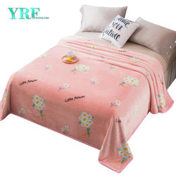 Super doux Micro molleton polaire floral rose Couverture durable