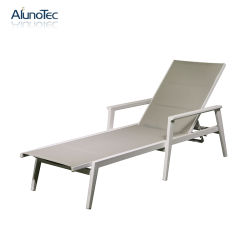 Portátil exterior Piscina Sun Lounge Chaise móveis de alumínio fixa