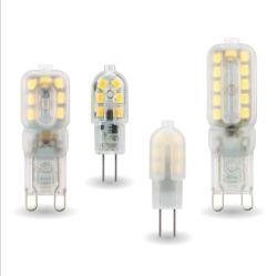 10ПК светодиодная лампа 3 Вт 5W G4 лампы G9 220 В переменного тока 12V светодиод для поверхностного монтажа2835 в центре внимания люстра освещения заменить 20W 30W галогенные лампы