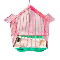플라스틱 금속 앵무새 모양의 작은 와이어 메쉬 장식 야외 케이지가 판매되었습니다