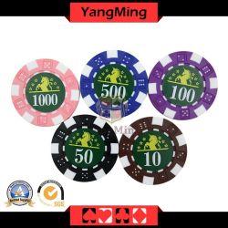 Fabricantes personalizado Advanced Clay Casino Poker Table Anti-Counterfeiting Chip Coin Establezca un gran número de acciones