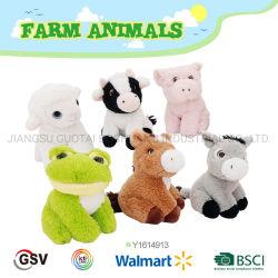 Los animales de granja de ovejas caballo cerdo Vaca Burra Rana de juguete de peluche