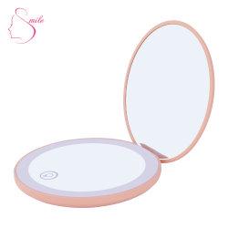 12 LED fábrica 1X/10X maquillaje de vidrio del espejo de vanidad Mini Espejo Espejo Espejo de maquillaje de LED