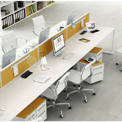 Moderne Fabrik-Preis 8 Seaters Stufenbau-Schreibtisch-Büro-Arbeitsplatz-Büro-Möbel mit Bildschirm