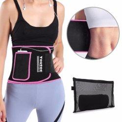Taillen-Kursleiter mit Handy-Taschen-Sauna-Effekt während arbeiten zurück Stützbrandwunde-Bauch-fette Hilfsmittel im Weightloss Taillen-Former-Taillen-Trimmer aus