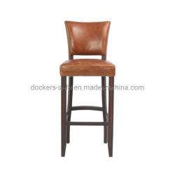 Светло-коричневого старинные дома Мебель удобной деревянной ноги счетчик кожаные бар место Председателя