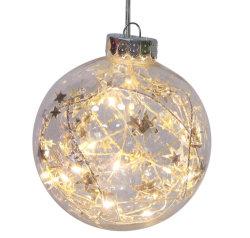 الجملة اليدوية رسم كبير ديكير LED ضوء حتى عيد الميلاد الزجاج زينة
