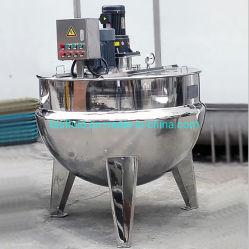 500 [ليتر] يميّل نوع بخار مزدوجة غلاية [جكتد] مع مهيّج