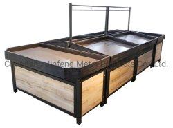 野菜用のスーパーカスタマイズ木製および金属製棚ディスプレイラック フルーツ( &F )