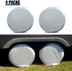 Las cubiertas de neumáticos para RV Juego de ruedas de 4 de Motorhome Tapacubos