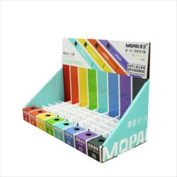 Bunter Papppapier-Kostenzähler-Bildschirmanzeige-Regenbogen-gewölbtes Kasten-Feder-Briefpapier