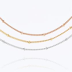 [فشيون كّسّوري] [ستينلسّ ستيل] [لينك شين] قمر صناعيّ كرة أطروفة سلسلة نمو مجوهرات تصميم [ستينلسّ ستيل] مجوهرات عقد