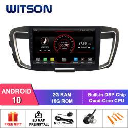 Vierradantriebwagen-Kern-grosser Bildschirm-Auto-DVD-Spieler GPS des Witson Android-10 für Honda Accord 9 (Motor 2.4L)