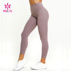 Commerce de gros de l'entraînement de l'exécution de l'habillement Ladies Athletic collants en nylon