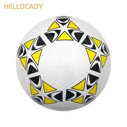 Hellocady tamaño oficial 5/4/3/3/2/1 en el interior de promoción de juguete de goma suave superficie balón de fútbol