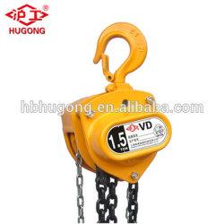 Hsz-Vd 1 a 10 toneladas polipasto de cadena mano bloquea