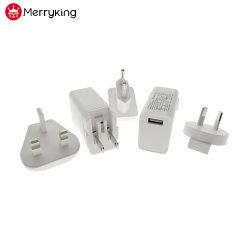 상호 교환 가능한 USB 전원 어댑터 5V 1A 단일 USB 출력 무선 스피커 사용 시 EU/UK/AU/US 플러그 요금 부과