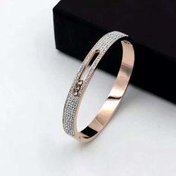 Высокое качество браслет в моде, 316 л из нержавеющей стали с Diamend и матовая, модных Jwerelry Bangle B523-W
