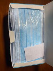 Non-Woven 3 capas de protección de Meltblown desechables mascarilla quirúrgica medicina