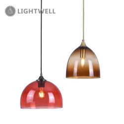 E27 современные Декоративные красные и кофе стекло подвески подвесной светильник с маркировкой CE