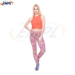중국 제조자 다채로운 각반 Supplex 스판덱스 여자 섹시한 스포츠 요가 바지
