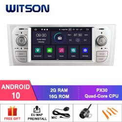 フィアット古いPuntoの手段可聴周波GPSのラジオのためのWitsonのクォードコアアンドロイド10車のマルチメディア
