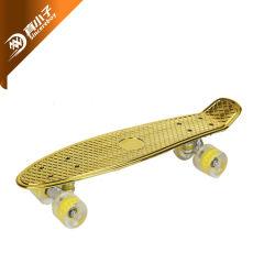 2021 materiale PP caldo di vendita elettropiastra o verniciato completo Mini Cruisers Skateboard Bambini Board