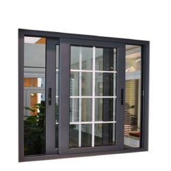 Ouverture horizontale insonorisées moderne personnalisé en PVC/Aluminium avec vitre coulissante en verre simple/double