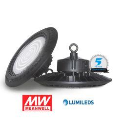 160lm/W 100W/150W/200W/fábrica almacén industrial IP65 LED OVNI de la luz de la Bahía de alta con controlador Meanwell