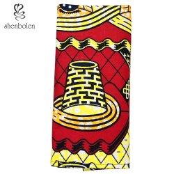 OEM 도매 아프리카 형식 면 왁스 직물 인쇄 손전등 Headwrap
