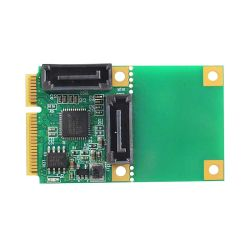 Linkreal 2 puertos SATA 6Gb/s Tarjeta controladora PCI Express Mini Mini Pcie a SATA 3.0 Tarjeta del convertidor es compatible con SATA HDD SSD Adaptador de tarjeta de expansión