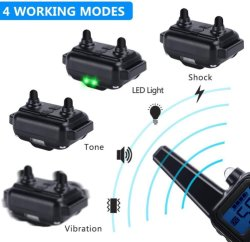 Elevadores eléctricos de Cão Colar de Treinamento de animais de Controle Remoto recarregável impermeável com visor LCD para todos os tamanhos de choque Som de vibração