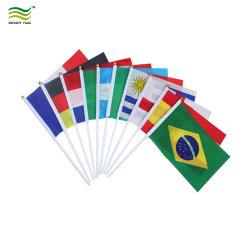 La impresión digital en papel poliéster pvc mano PERSONALIZADA Bandera banderas de palo de mano