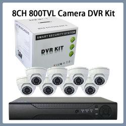 المراقبة 8CH 800tvl IR CCTV H. 265 Security Dome Camera Dvrkits