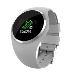 Q1 Assista a tela LCD a cores do monitor de ritmo cardíaco da Pulseira Inteligente Rastreador Fitness Mulheres Podômetro