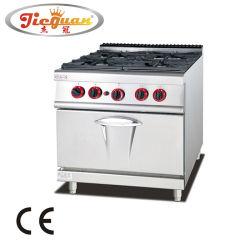 نطاق الغاز التجاري الرأسي 4 أجهزة حرق مع فرن الغاز GH-987A