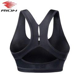 Rion2021 Top mujer sostén deportivo perfecta la ejecución de la cosecha de Yoga Entrenamiento superior Gym Fitness Deporte de Alto Impacto Bra de ropa interior del depósito de chaleco acolchado