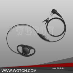 Motorolaのための2pin Dの形のクリップ耳Pttのヘッドセットの受話口Mic 2つの方法ラジオGp88s Gp300 Gp68 Gp2000 Gp88 Gp3188 Cp040 Cp1200 A8 A6 A10 A12の携帯無線電話