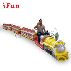 Les enfants et adultes Ifun Park Petit Train Les Manèges Trackless train électrique Batterie manèges pour enfants Kids Machine de jeu mini-jeux d'Arcade Shopping Mall Train
