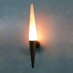 Schermo di lampada dell'alabastro del Faux e lampada da parete del blocco per grafici del metallo dell'Anti-Ottone