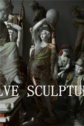 屋外の大理石の石の活気付く女の子の彫像は装飾の価格Mfsg-104を彫る