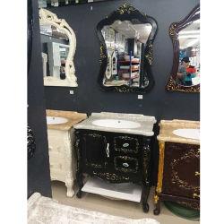 ヨーロッパ式の浴室用キャビネットの骨董品PVCフロア・キャビネット